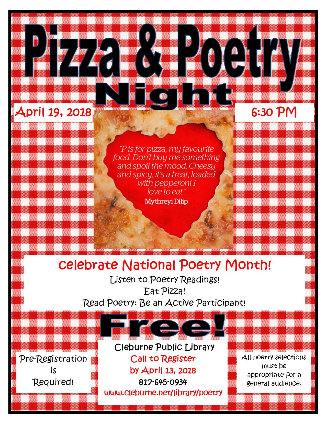 pizza and Poetry