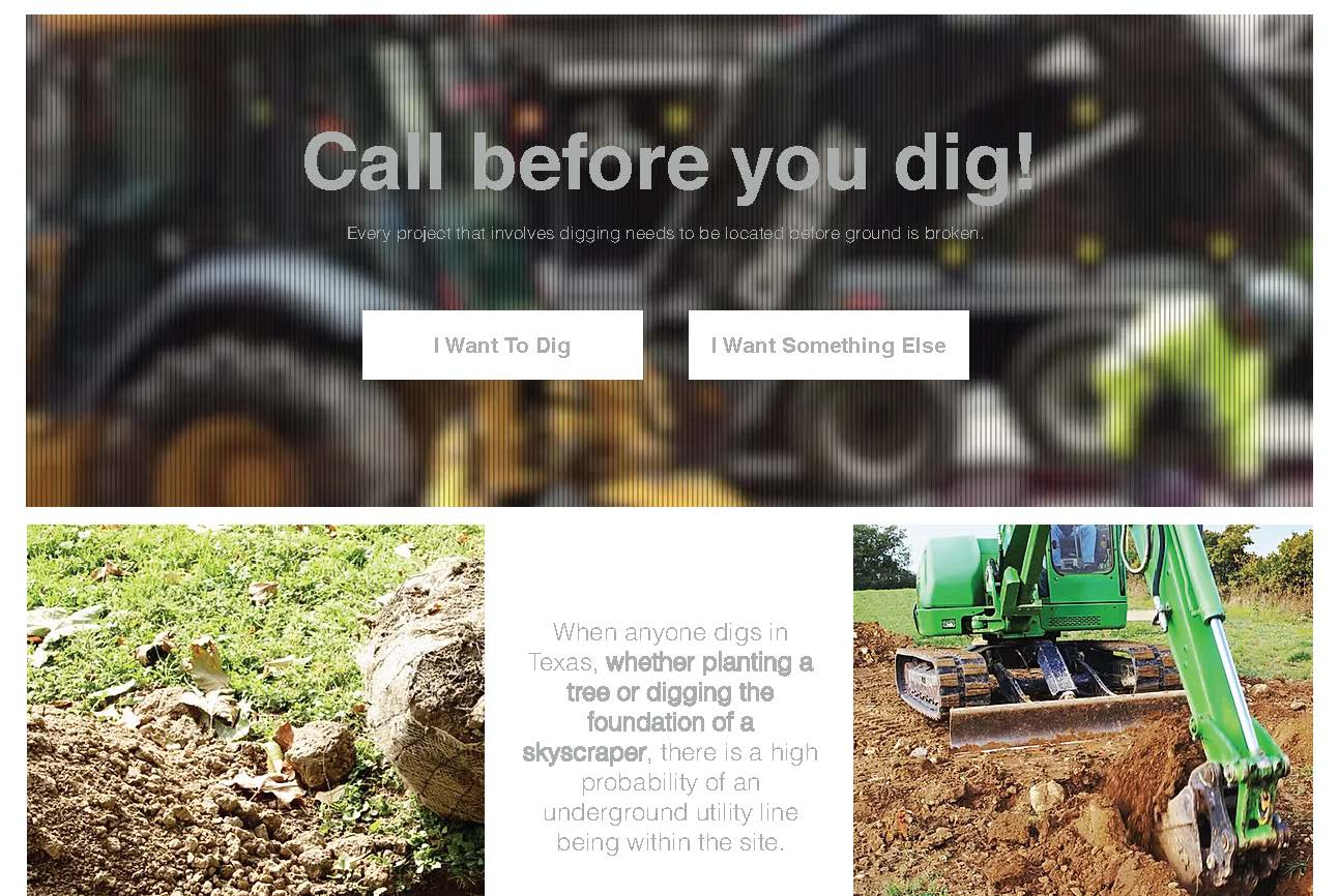 Call Before You Dig _ Texas811