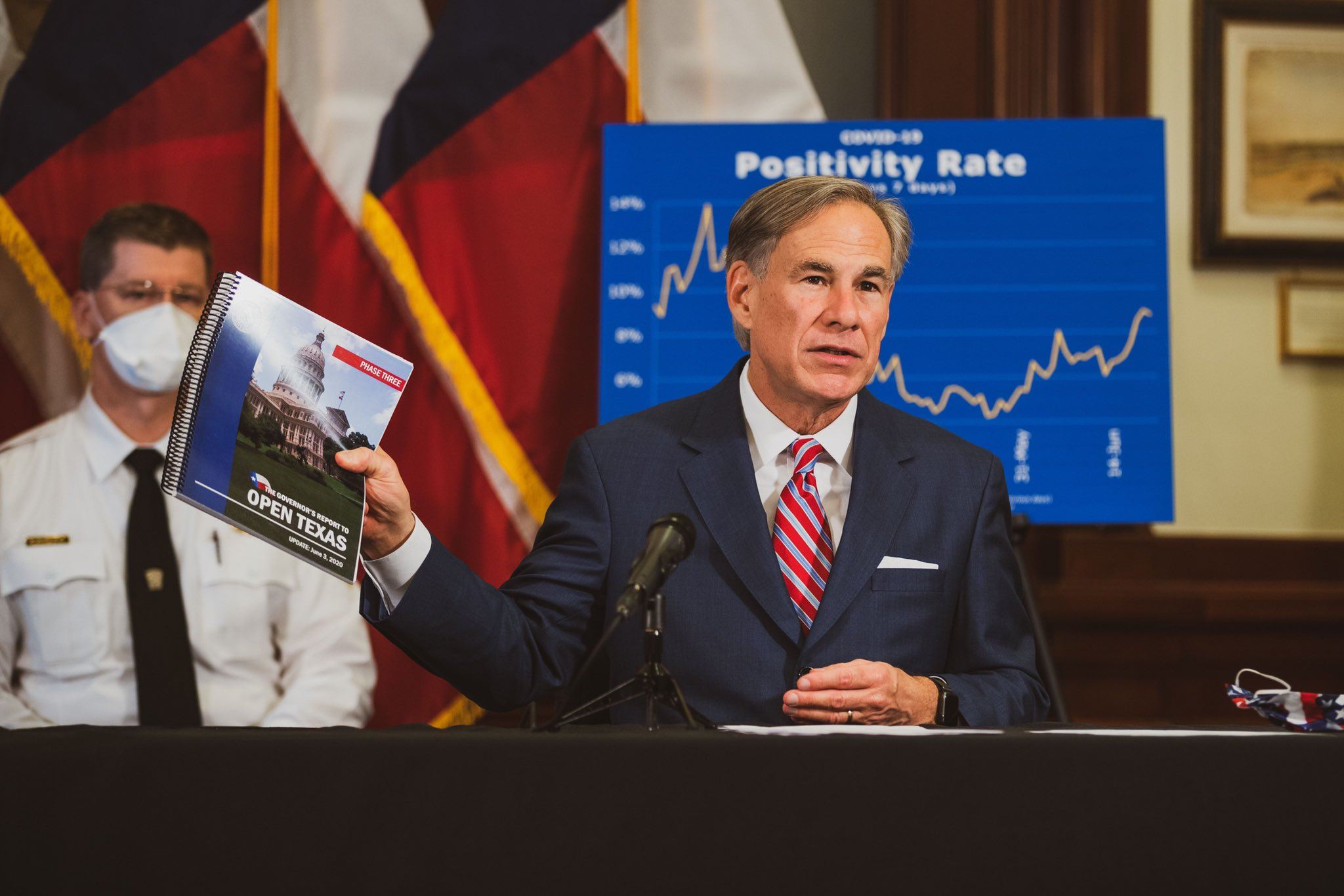Governor Greg Abbott with his Open Texas plan